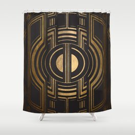 Art Deco Unfinished Love Shower Curtain