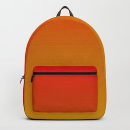 Red Apple and Golden Honey Ombre Sunset Backpack