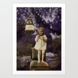 Little Lady of Celestial Night by HJ Tanner Studio Art Print