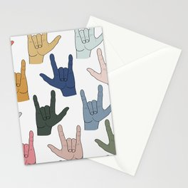 I Love You (Muted Palette) Stationery Cards