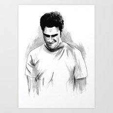 DARK COMEDIANS: Seth Rogen Art Print
