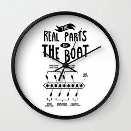 Rowing Rowing Boat Wall Clock