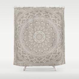 Mandala - Taupe Shower Curtain