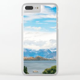 Cloudy summer day at Wanaka, New Zealand Clear iPhone Case