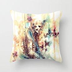 Rick Genest - Zombie Boy Throw Pillow