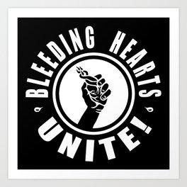 BLEEDING HEARTS UNITE! (negative) Art Print