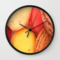 macaroons Wall Clocks featuring Macaroons by alexarayy
