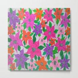 Colorful Spring Floral Garden Metal Print
