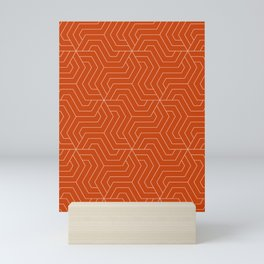 Sinopia - orange - Modern Vector Seamless Pattern Mini Art Print