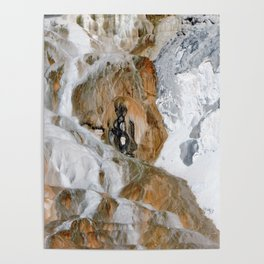 Travertine Mammoth Hot Springs Yellowstone Poster