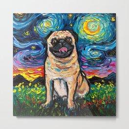 Happy Pug Night Metal Print