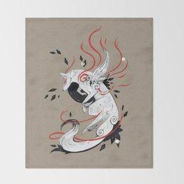 OKAMI RIBBONS Throw Blanket