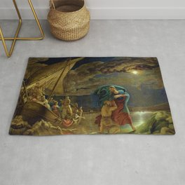 Peter Walks on Water by Philipp Otto Runge Rug