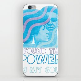 I Found The Power In My Soul Blue iPhone Skin