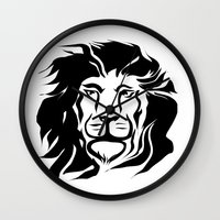 lion king Wall Clocks featuring Lion King by Alexandr-Az