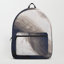 Navy, black & white abstract Backpack