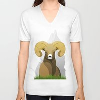 ram V-neck T-shirts featuring Ram by Porto881
