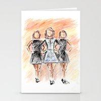 irish Stationery Cards featuring Irish Dancers by Tina Mooney