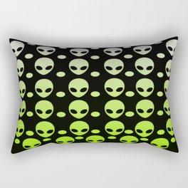 Green Alien Dots Rectangular Pillow