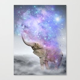 Don't Be Afraid To Dream Big • (Elephant-Size Dreams) Canvas Print