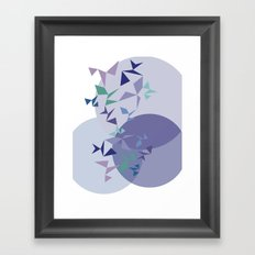 shapes on shapes Framed Art Print