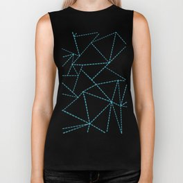 Ab Dotted Lines Blue on Pink Biker Tank