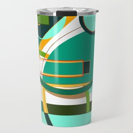 D is for Deco: Abstract Art Deco Font Typography Travel Mug