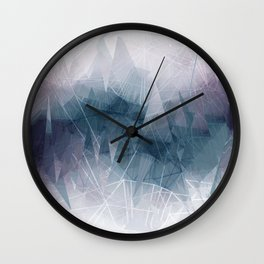 Ameythist Crystal Inspired Modern Abstract Wall Clock