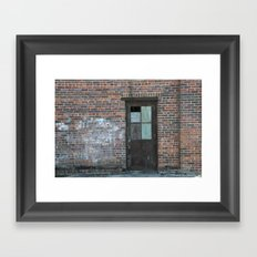 A Door in the Wall Framed Art Print
