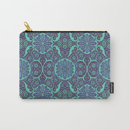 Poppy Pods Mint and Purple Carry-All Pouch