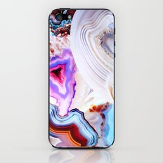 Agate, a vivid Metamorphic rock on Fire iPhone & iPod Skin