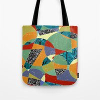 the 100 Tote Bags featuring Abstract #100 by Ron Trickett
