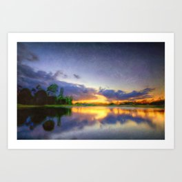 Lakeside Textures Art Print