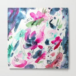 Floral abstraction #2 || watercolor Metal Print