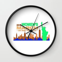 Women's March 2018 Wall Clock