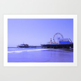 Purple Haze Santa Monica Pier Art Print