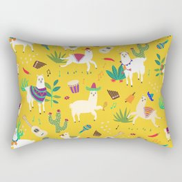 Alpacas & Maracas  Rectangular Pillow