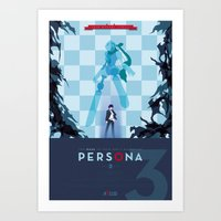 persona Art Prints featuring Persona 3 by Phil Giarrusso