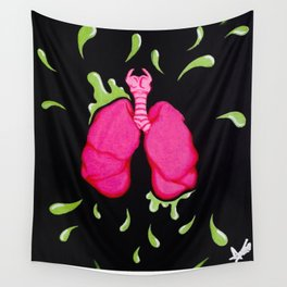*Poumons Gluants Wall Tapestry