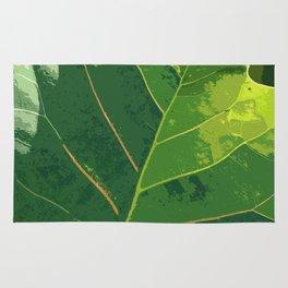 Green Green Leaf Rug