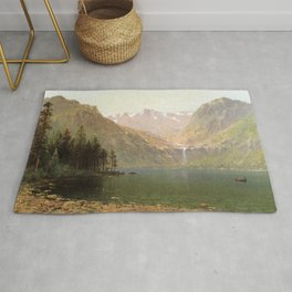 View Of Lake Tahoe Looking Across Emerald Bay 1874 By Thomas Hill | Reproduction Rug