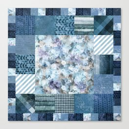 Homeliness blue Canvas Print
