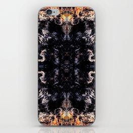 Flame kaleidoscope iPhone Skin