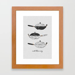 Wok This Way Framed Art Print