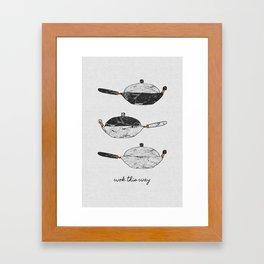Wok This Way, Kitchen Print Framed Art Print