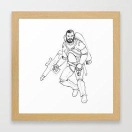 Space Mercenary Framed Art Print