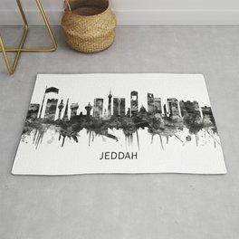Jeddah Saudi Arabia Skyline BW Rug