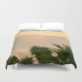 cloudy sky in the oasis Duvet Cover