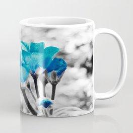 Turquoise FloWERS Pop of Color Coffee Mug