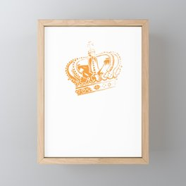 Queen with crown Framed Mini Art Print